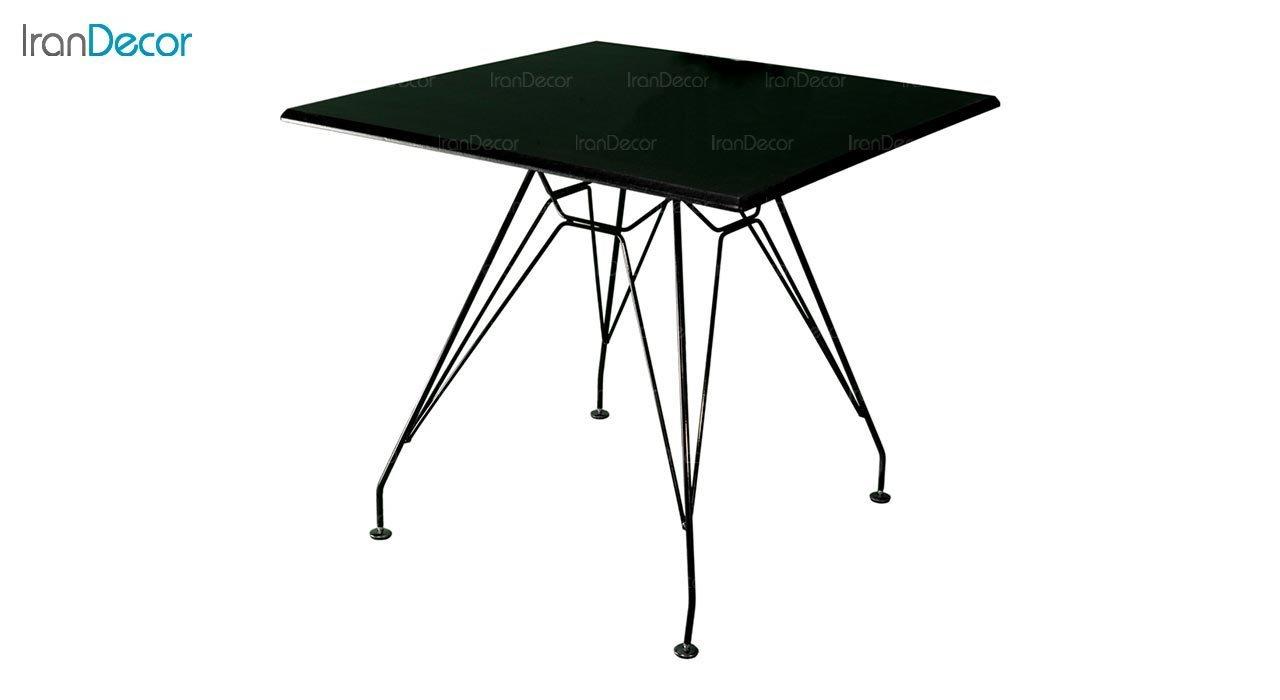 تصویر میز مربع پایه ایفلی بنیزان مدل TM530S
