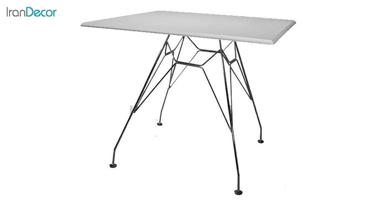 عکس میز مربع پایه ایفلی بنیزان مدل TM530S