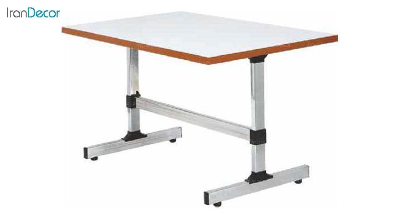 تصویر میز مستطیل پایه فلزی بنیزان مدل T121
