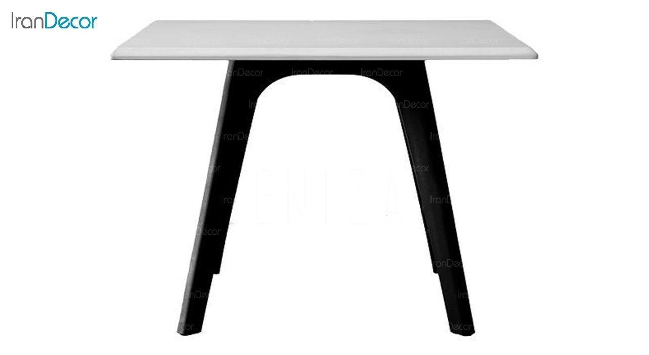 عکس میز عسلی مربع پایه پلاستیکی بنیزان مدل DM520