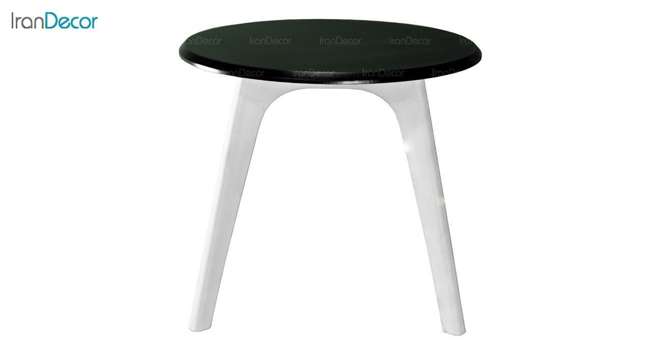 تصویر میز عسلی گرد پایه پلاستیکی بنیزان مدل DM520