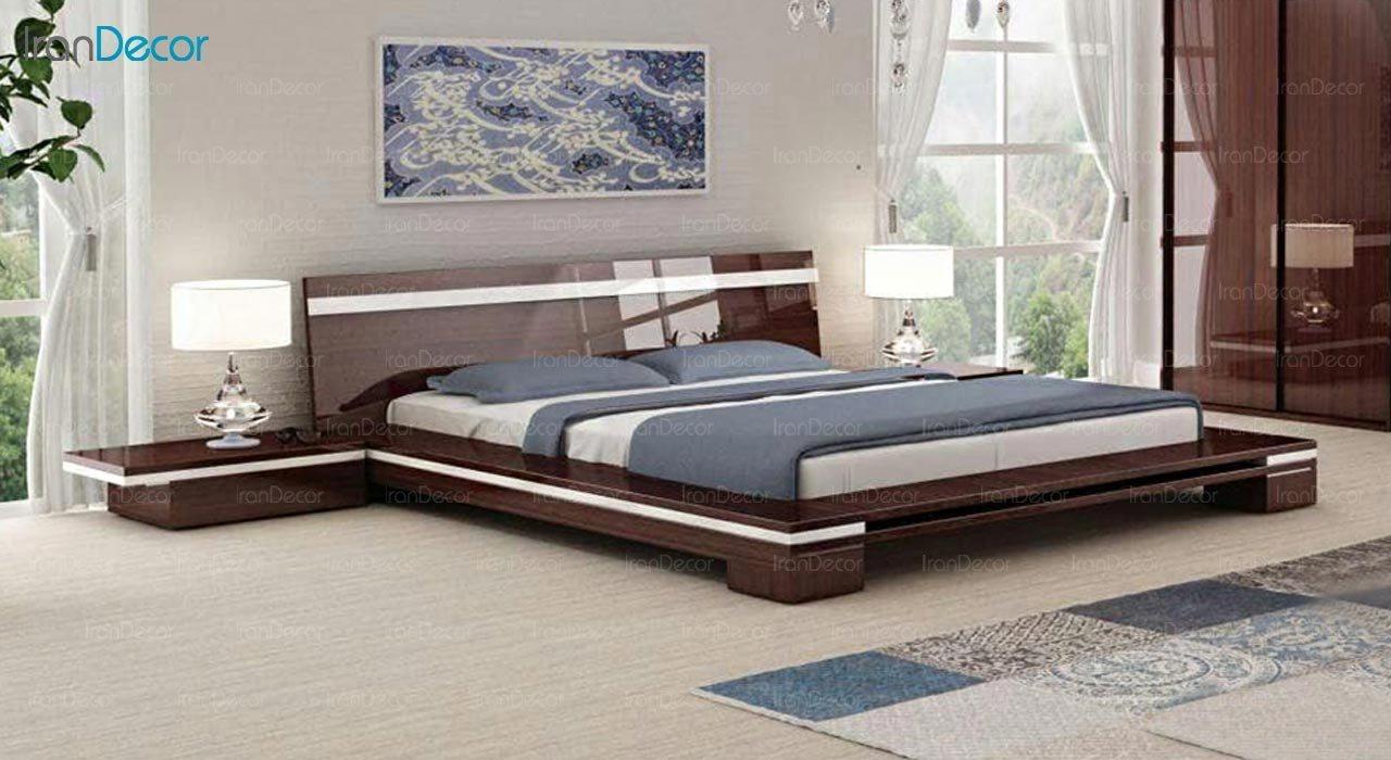 تصویر تخت خواب دو نفره امپریال مدل I163