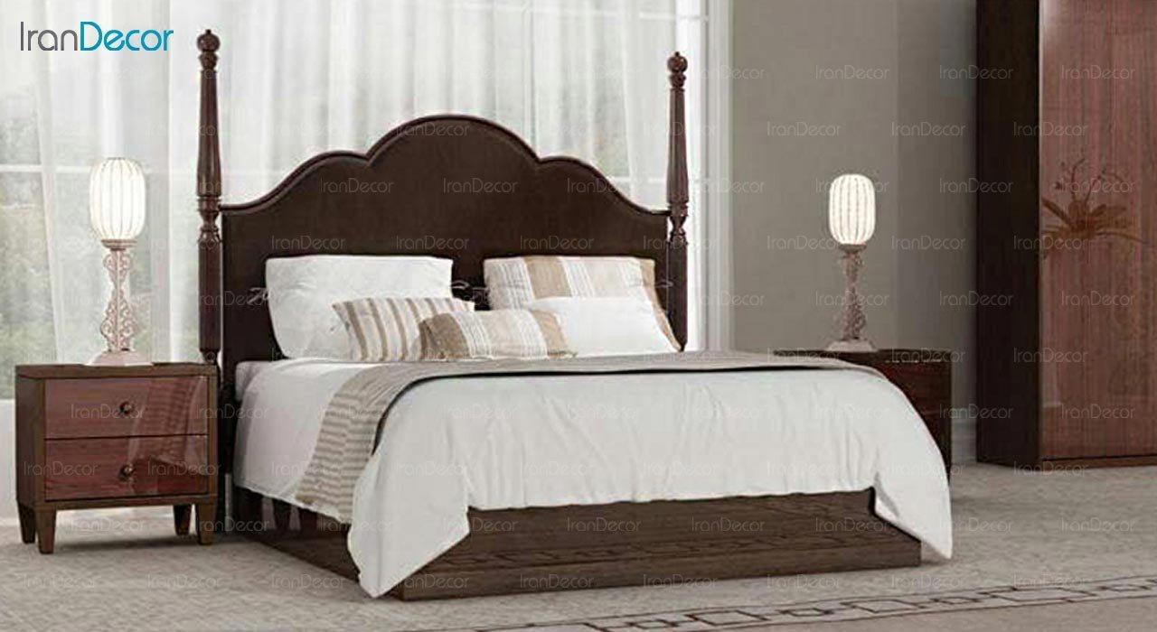 تصویر تخت خواب دو نفره امپریال مدل I181
