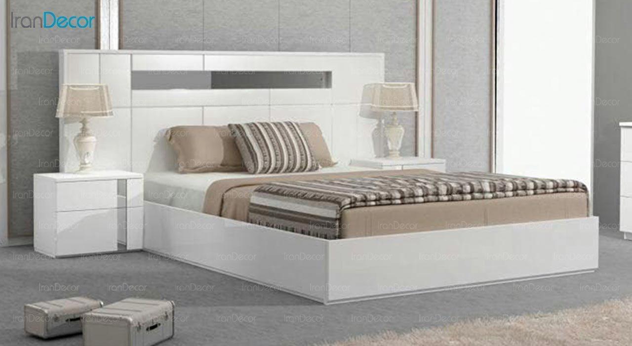 تصویر تخت خواب دو نفره امپریال مدل I191