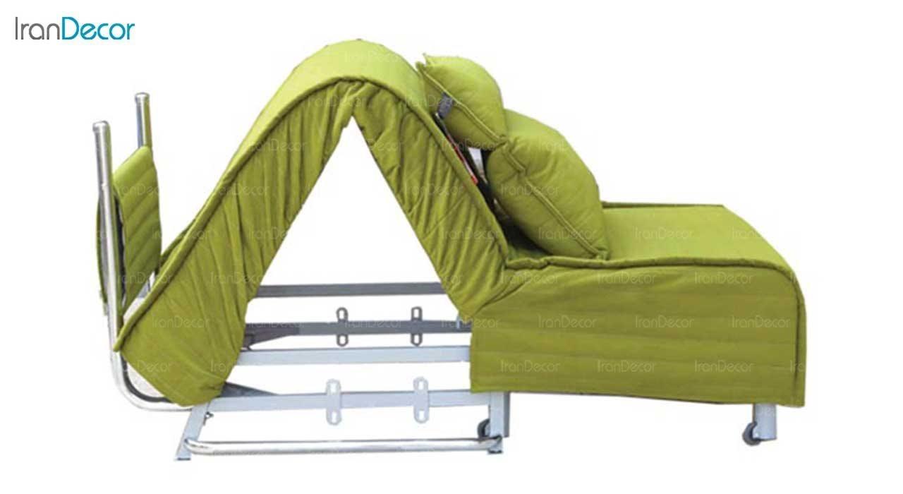 تصویر مبل تختخواب شو تک نفره کمجا مدل بطریسا