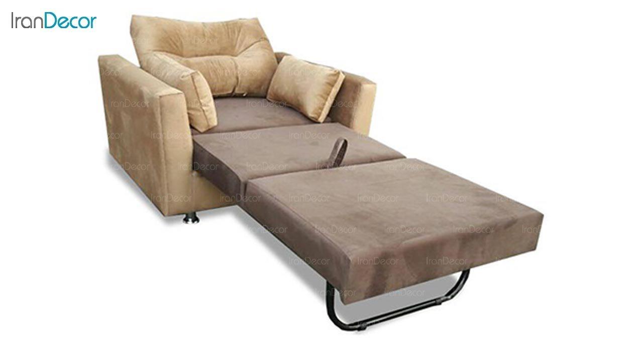 تصویر مبل تختخواب شو یک نفره رویال مدل پریا
