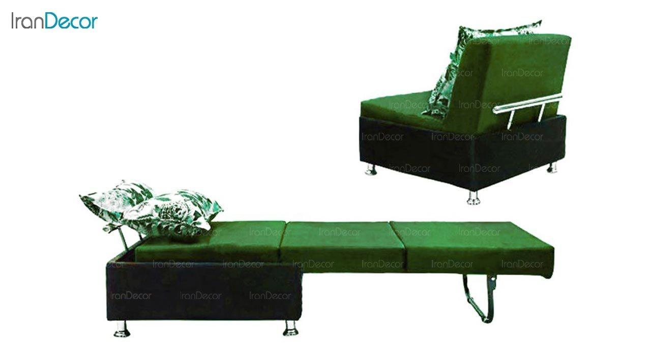 تصویر مبل تختخواب شو یک نفره رویال مدل باران