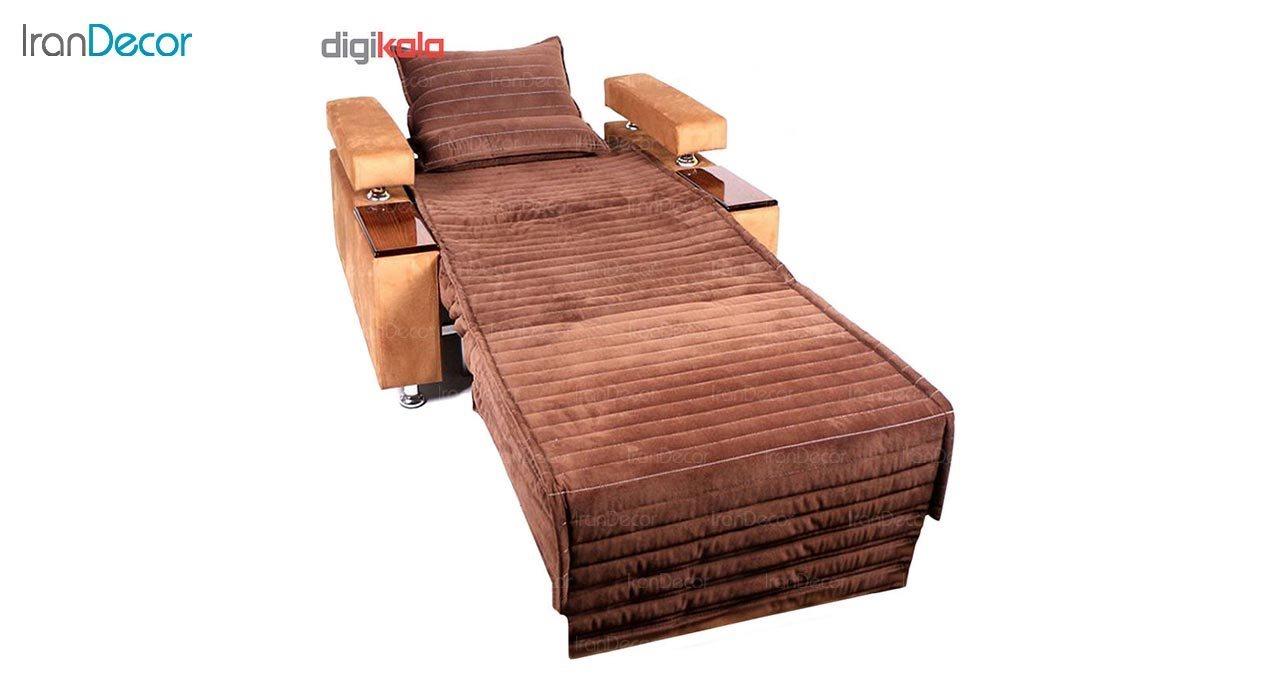 تصویر مبل تختخواب شو یک نفره رویال مدل لاویز