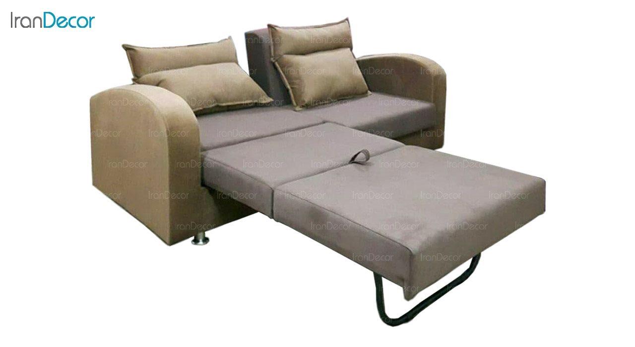 تصویر مبل تختخواب شو دو نفره رویال مدل دوقلو سون