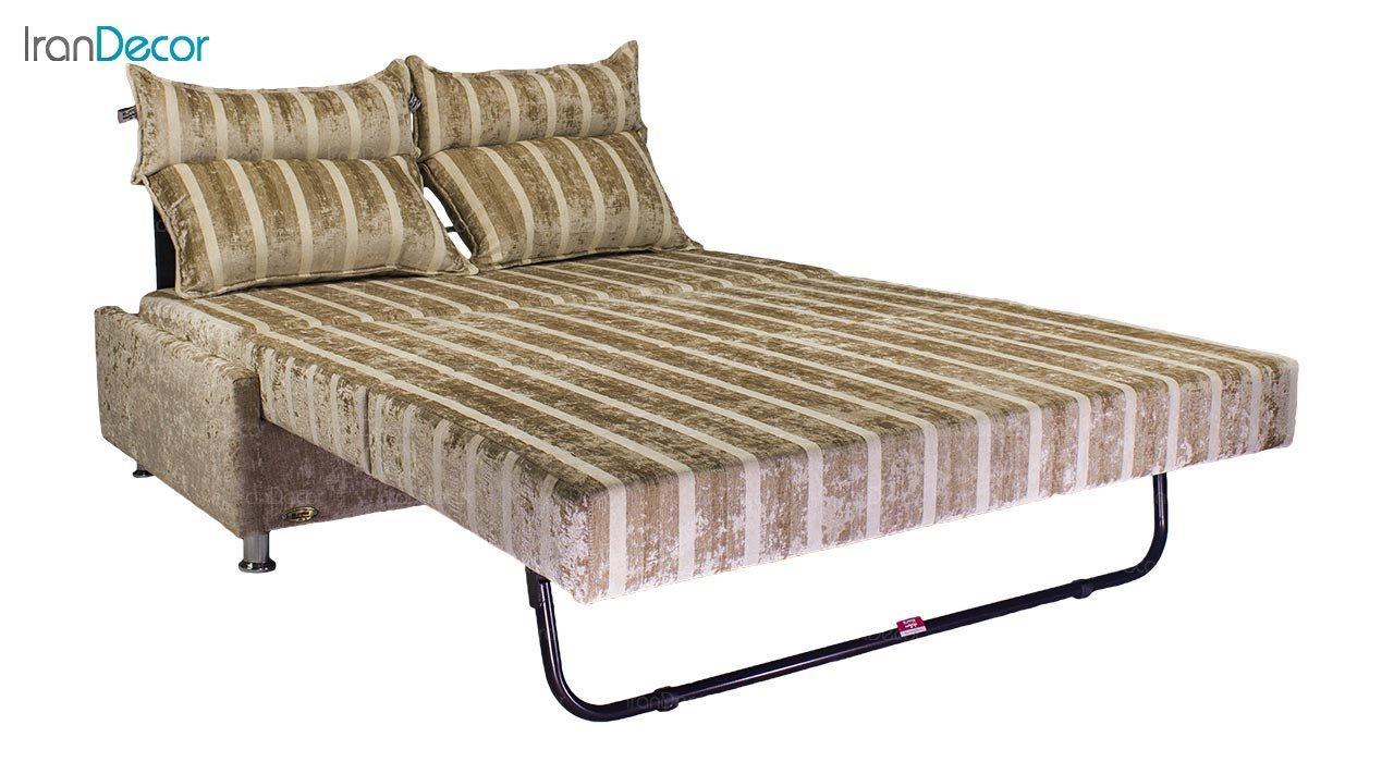 تصویر مبل تختخواب شو دو نفره سیب مدل آریس