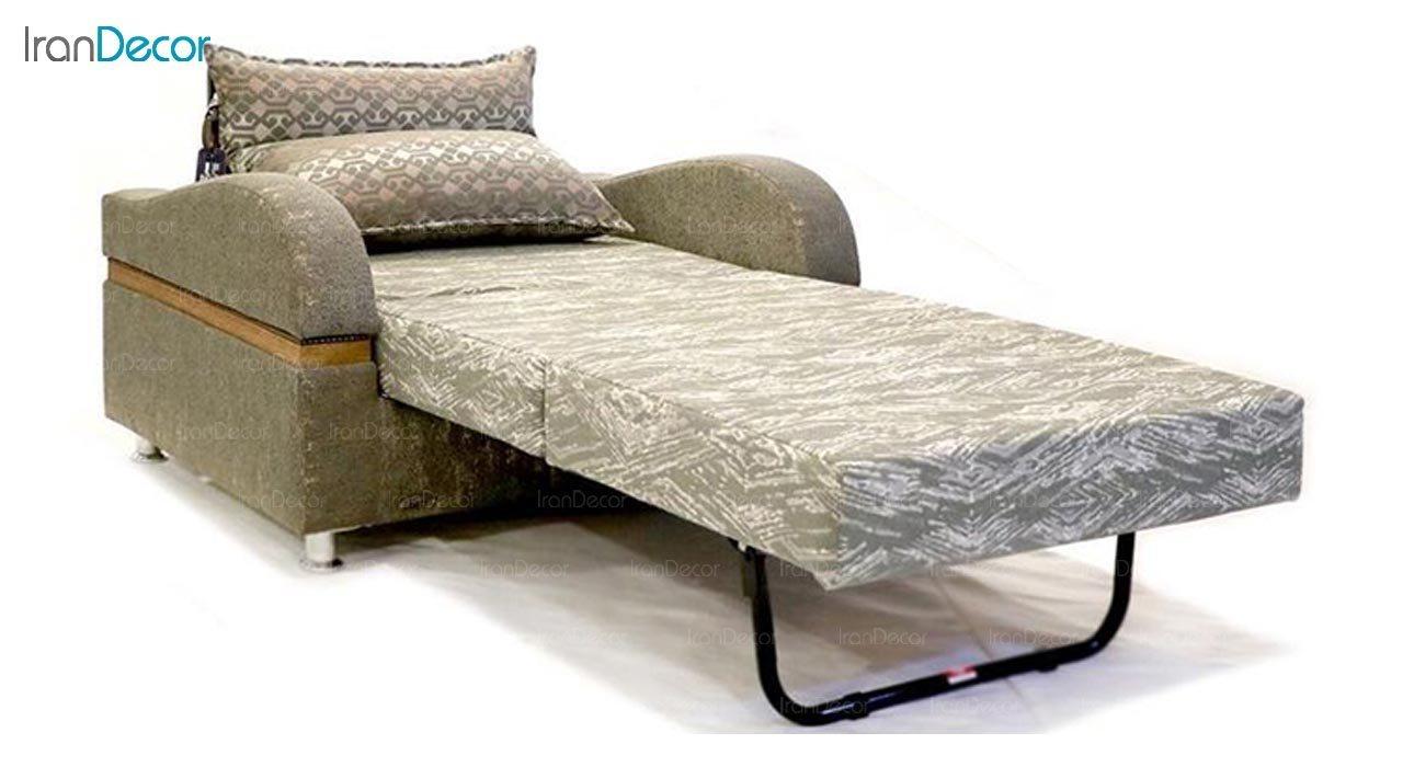 تصویر مبل تختخواب شو دو نفره سیب مدل پایسز
