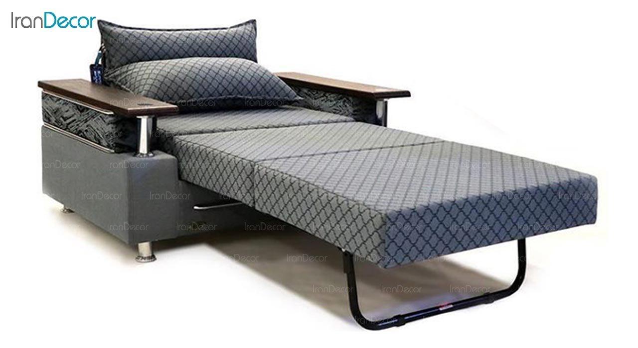 تصویر مبل تختخواب شو دو نفره سیب مدل آتوسا