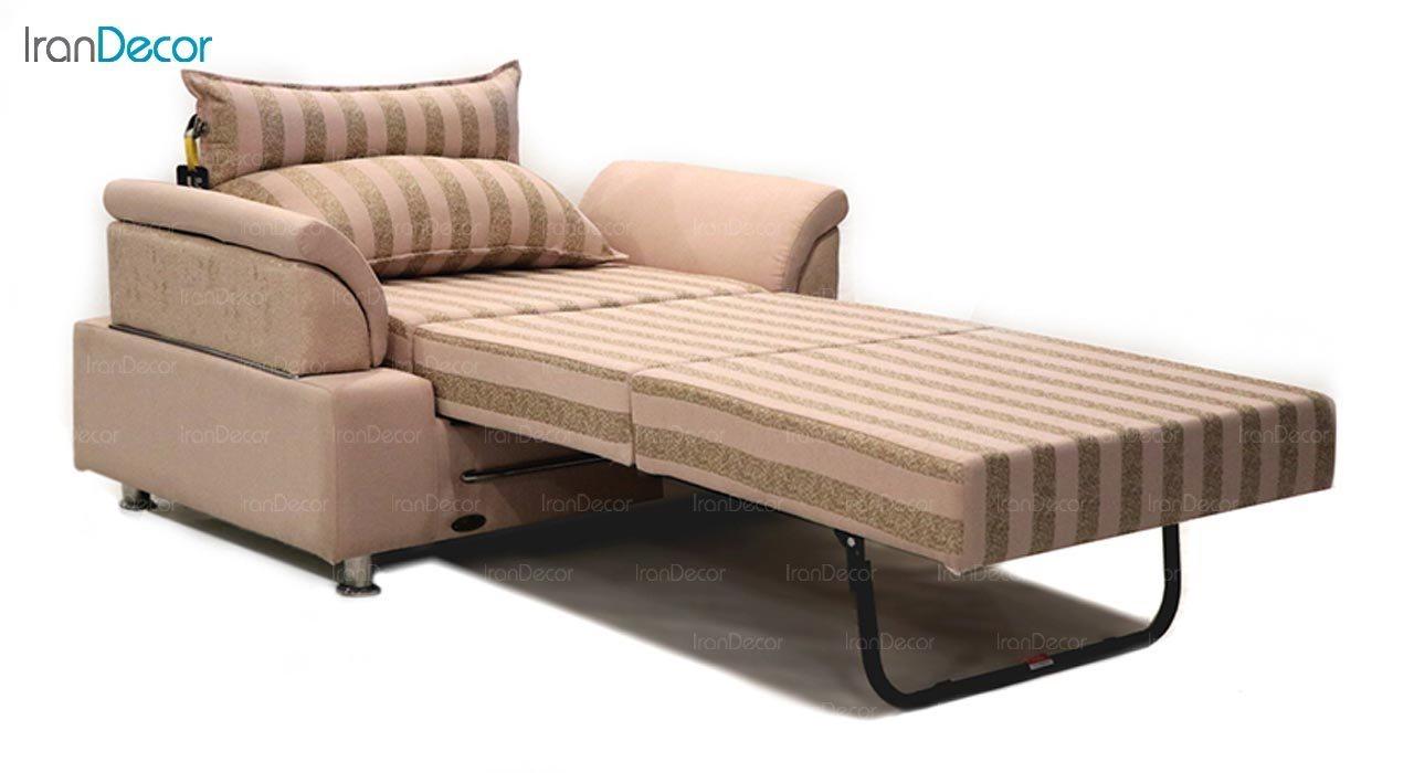 تصویر مبل تختخواب شو دو نفره سیب مدل کارن