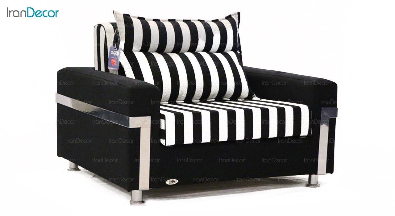 تصویر مبل تختخواب شو دو نفره سیب مدل جیپسون
