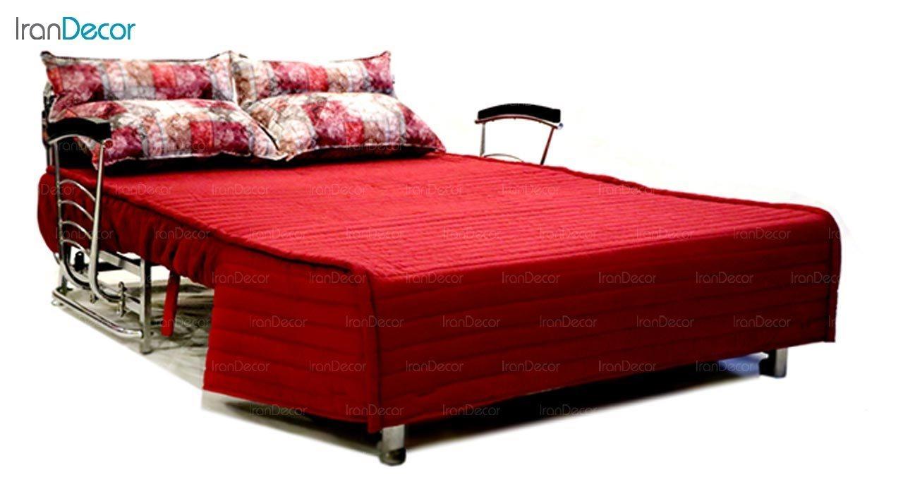 عکس مبل دسته دار تختخواب شو دو نفره سیب مدل کاپری
