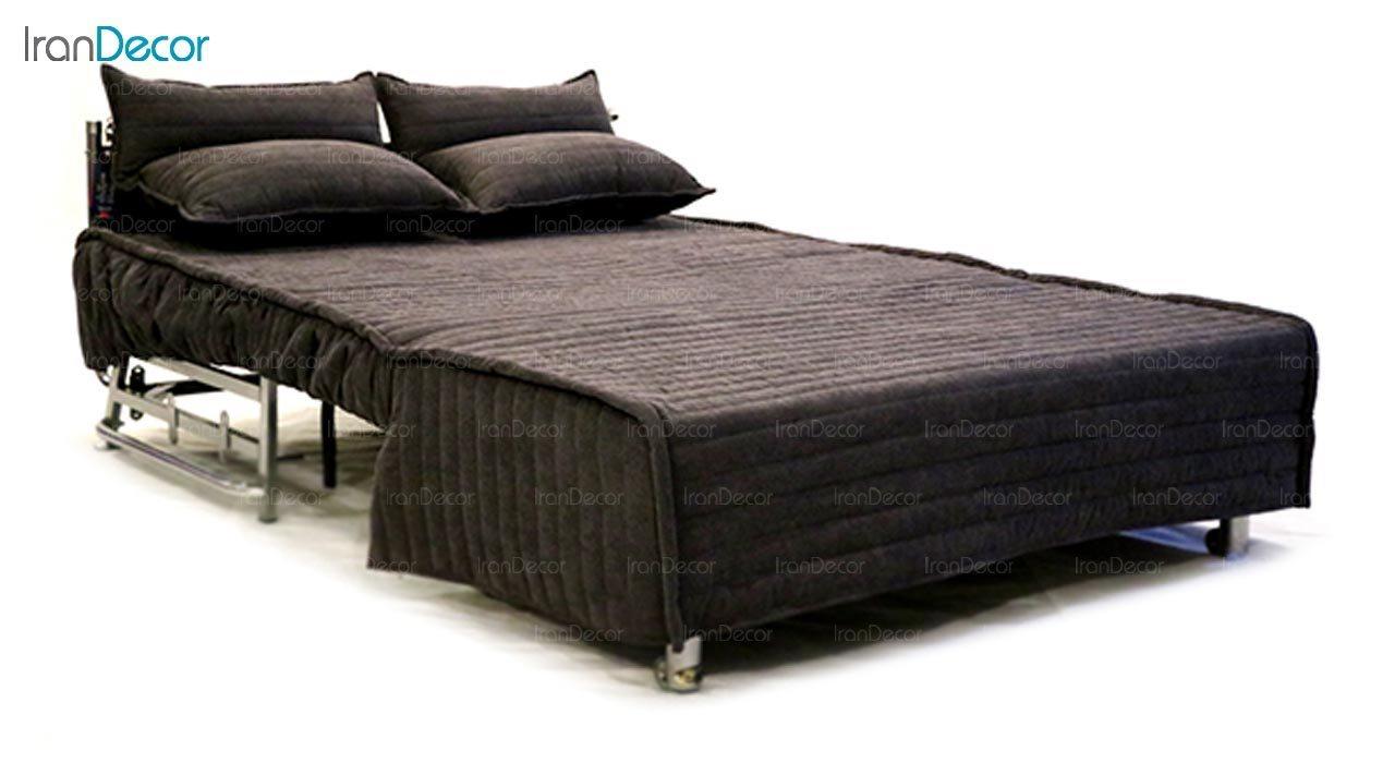 تصویر مبل دسته دار تختخواب شو دو نفره سیب مدل کاپری