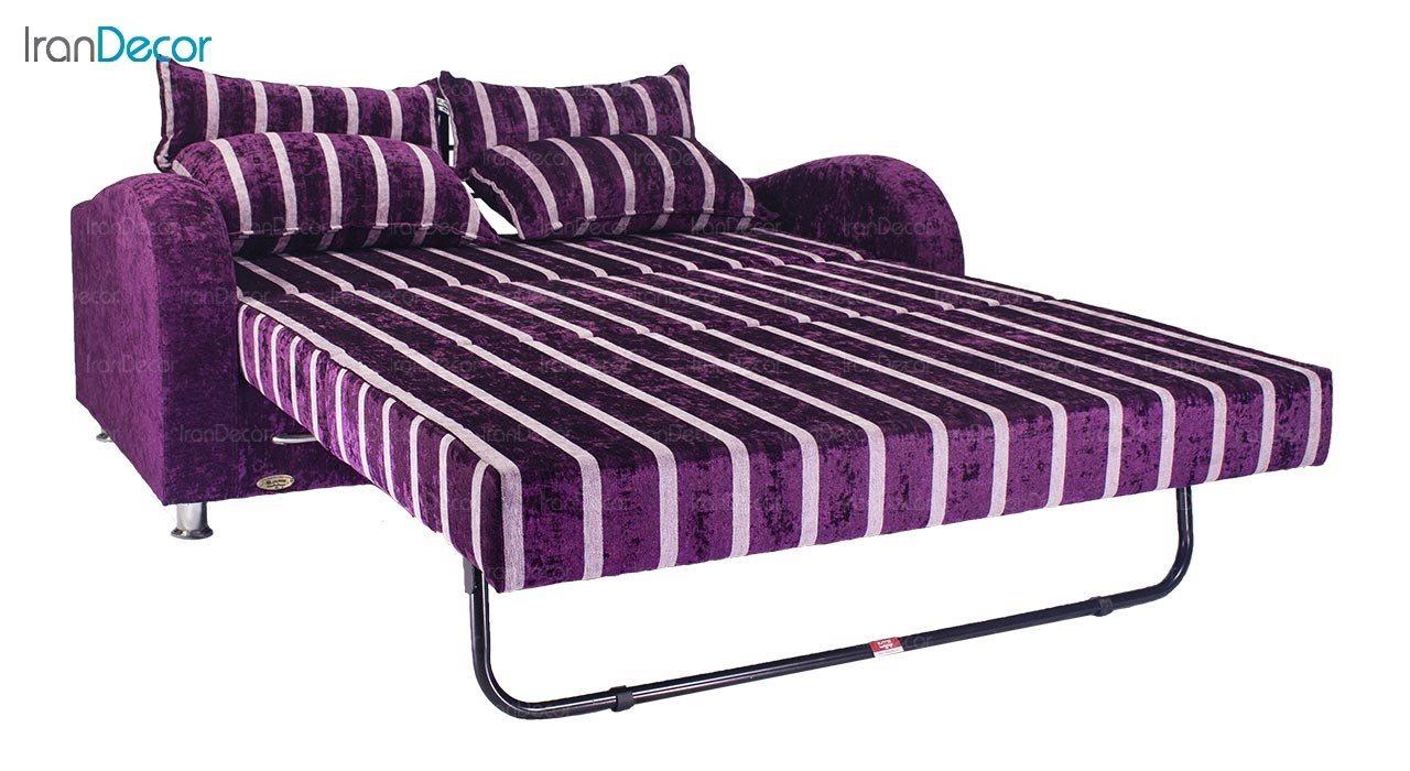تصویر مبل تختخواب شو یک نفره سیب مدل لئو