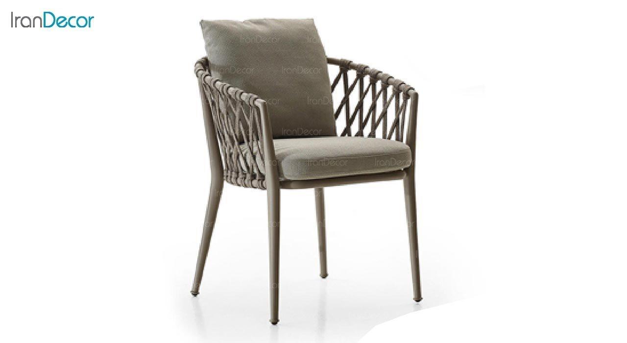 تصویر صندلی فلزی صنیع کار مدل باربارا تمام بافت