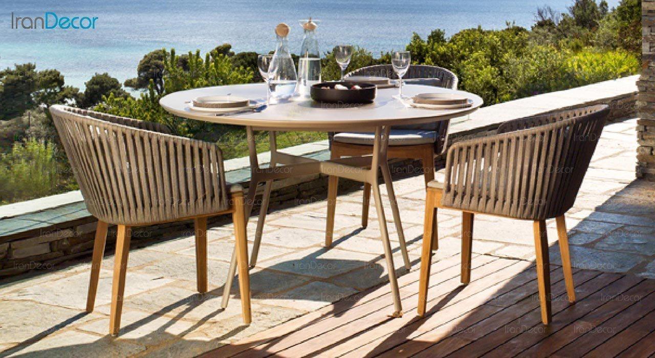 عکس صندلی پایه چوبی صنیع کار مدل تورینو