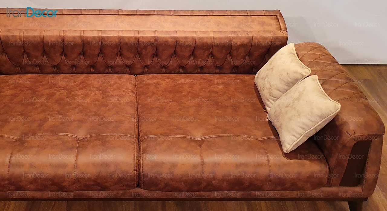 تصویر مبل ال تختخواب شو نیک آذین مدل پاریس حالت تخت