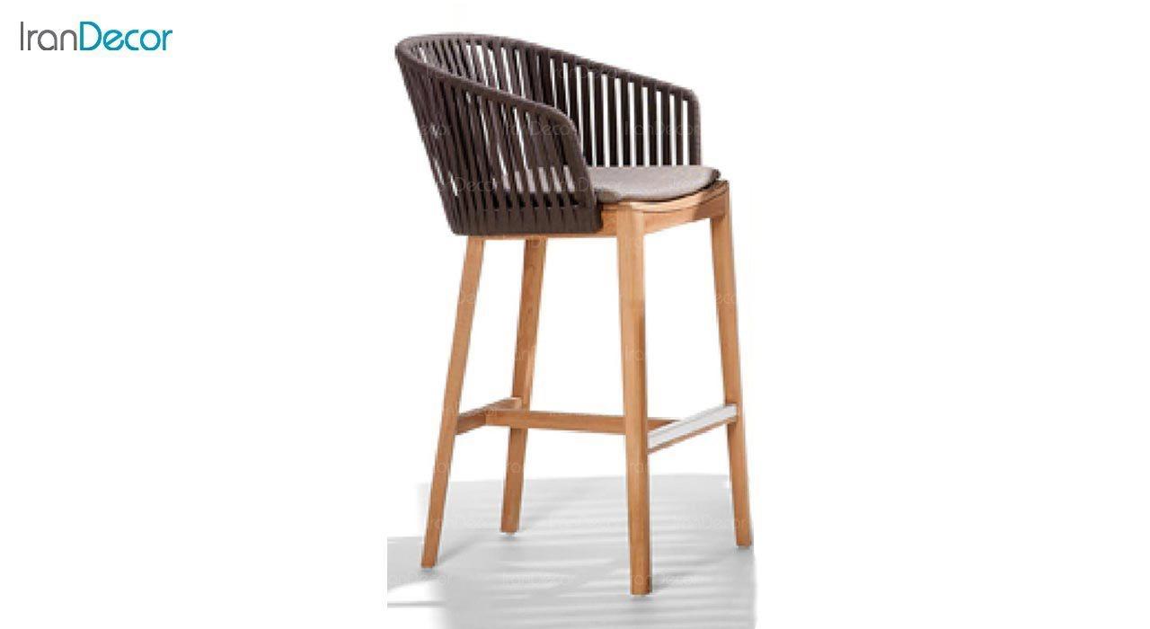 تصویر صندلی کانتر پایه چوبی صنیع کار مدل تورینو