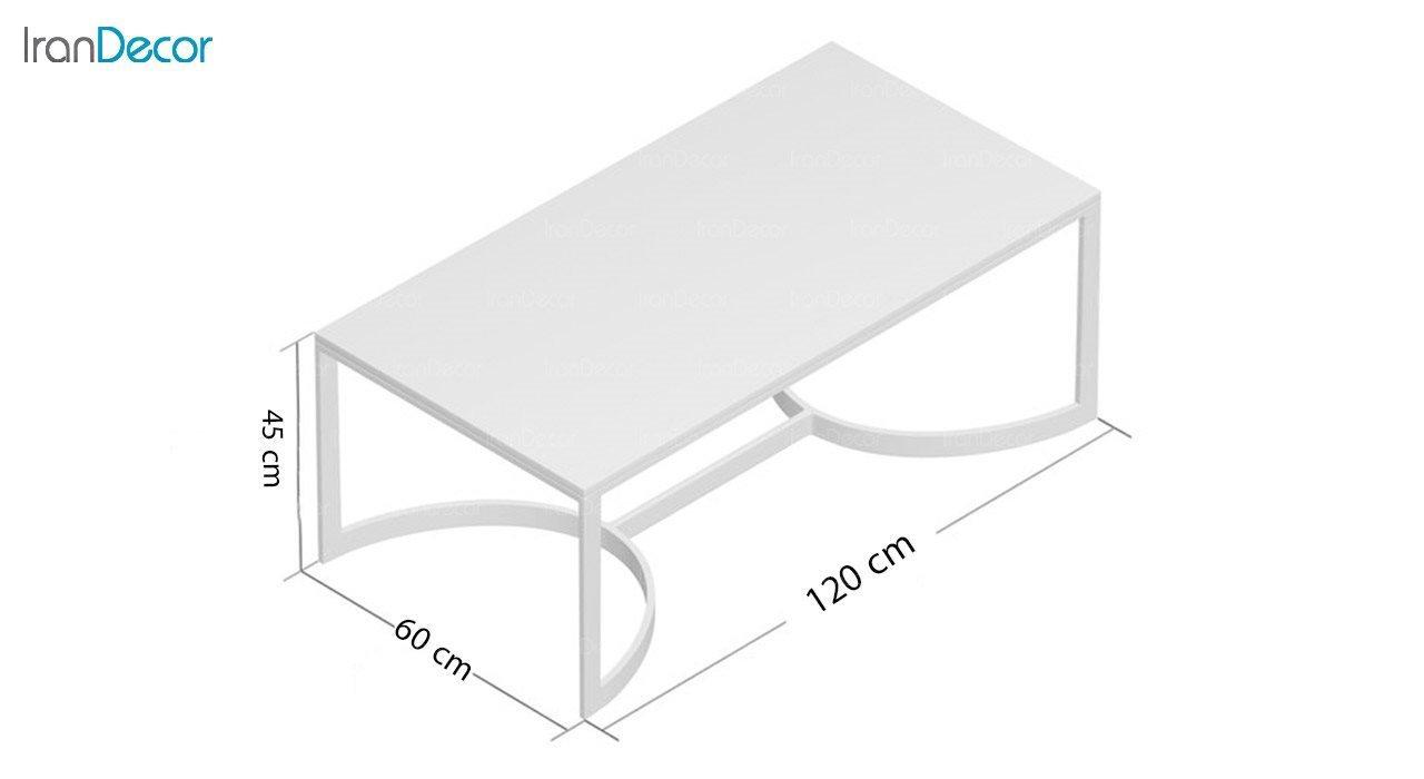 تصویر میز جلو مبلی سنگی مدل مرساده