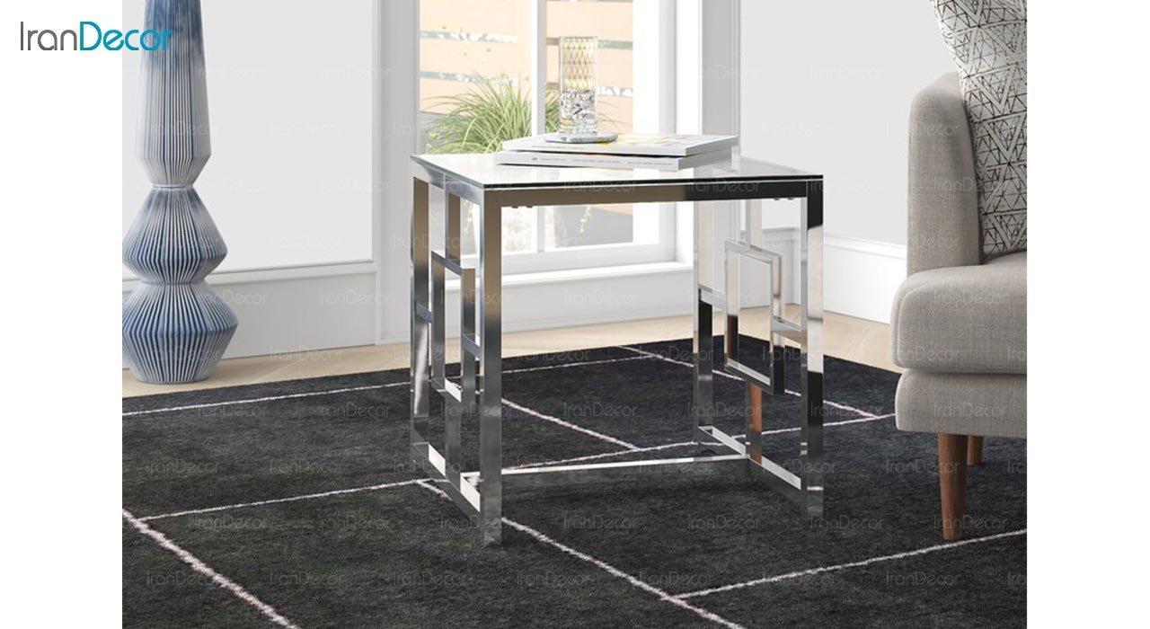 عکس میز عسلی سنگی مدل وارنر