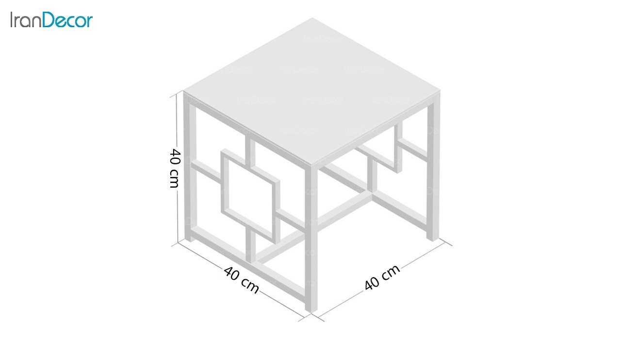 ابعاد میز عسلی استیل مدل وارنر