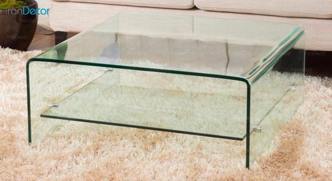 تصویر میز جلو مبلی شیشه ای اطلس مدل نیکا