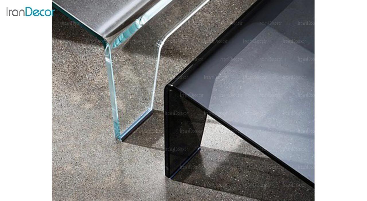 تصویر میز جلو مبلی شیشه ای اطلس مدل آسمان