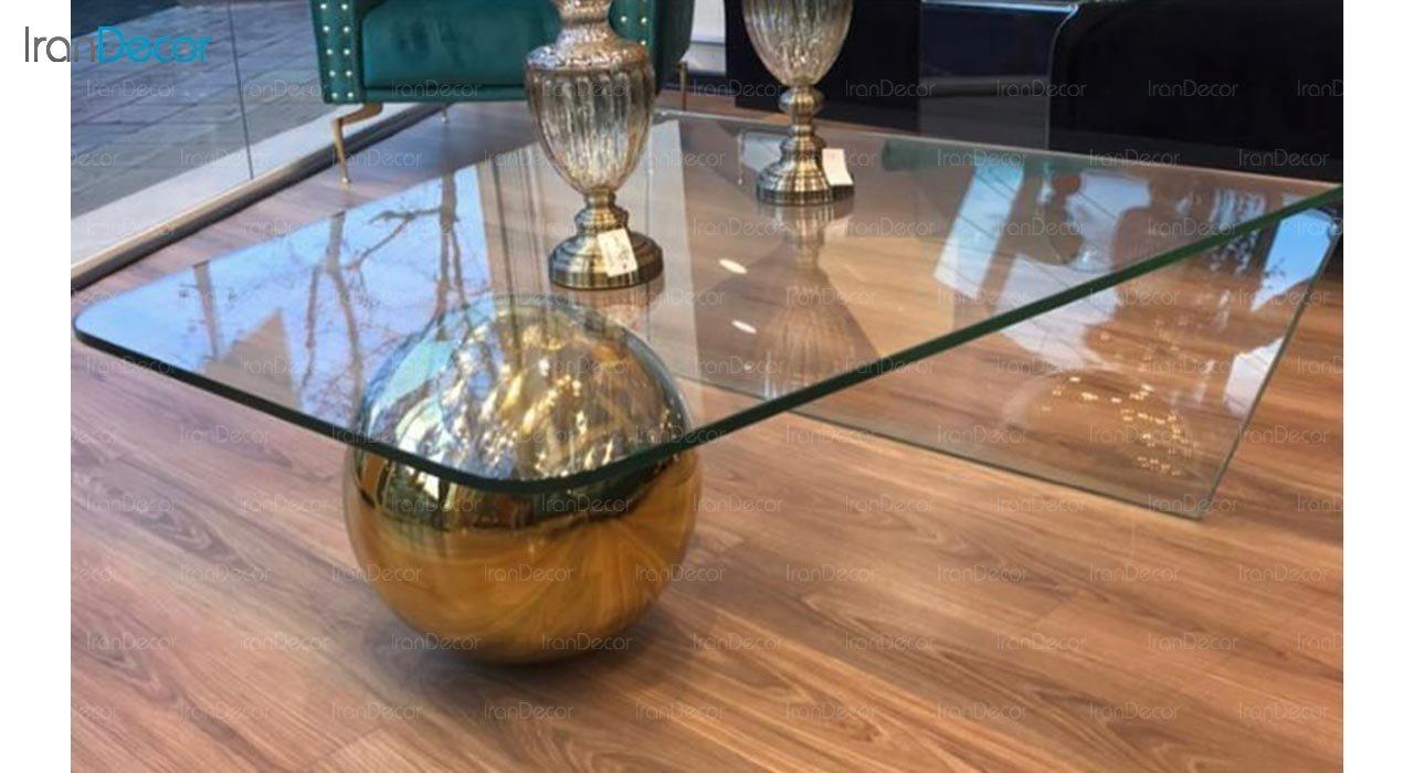 تصویر میز جلو مبلی شیشه ای اطلس مدل گوی دار