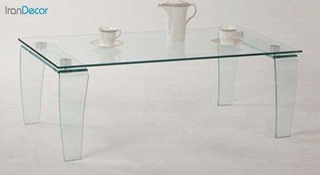 تصویر میز جلو مبلی شیشه ای اطلس مدل گلکسی
