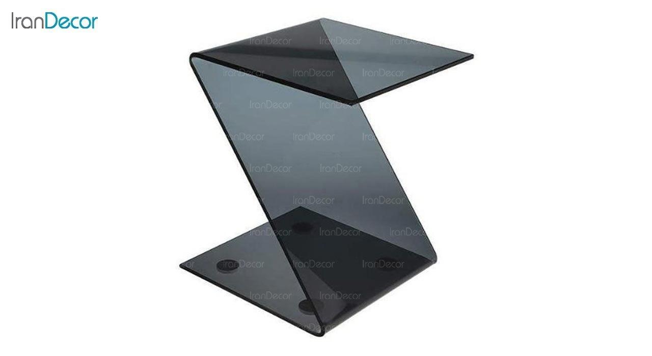 عکس میز عسلی شیشه ای اطلس مدل زد