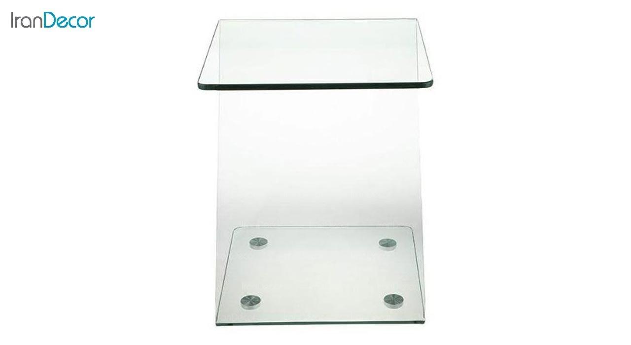 تصویر میز عسلی شیشه ای اطلس مدل زد