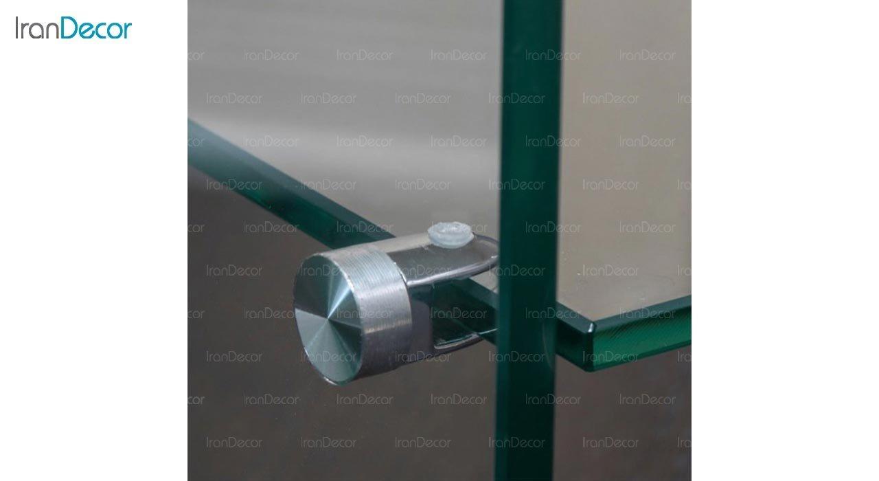 تصویر میز شیشه ای دو طبقه مدل اطلس