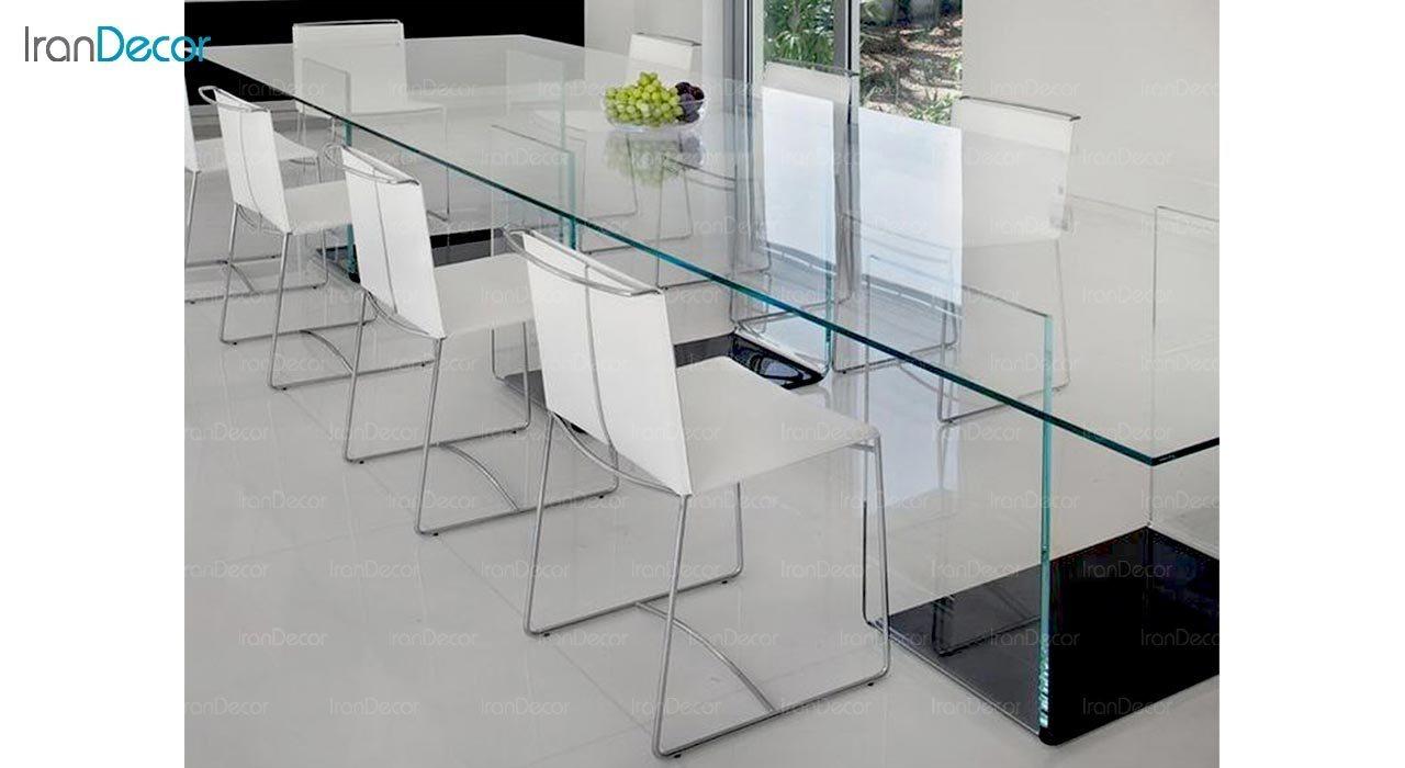 تصویر میز شیشه ای اطلس مدل T10