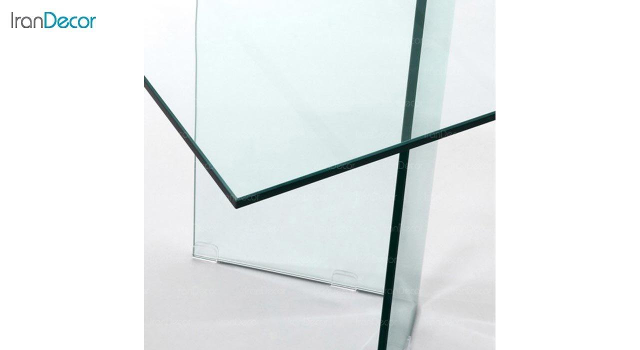 تصویر میز ناهار خوری شیشه ای اطلس مدل یاس