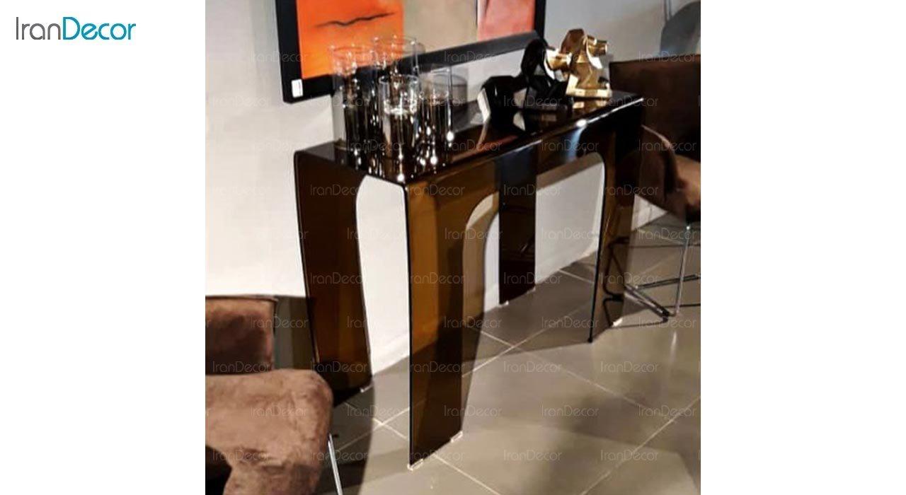 تصویر میز کنسول شیشه ای اطلس مدل مروارید