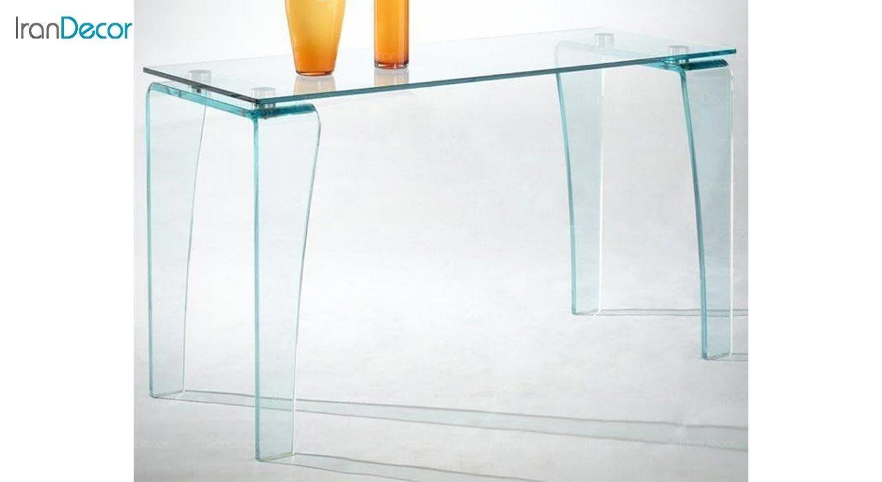 تصویر میز ناهار خوری شیشه ای اطلس مدل گلکسی