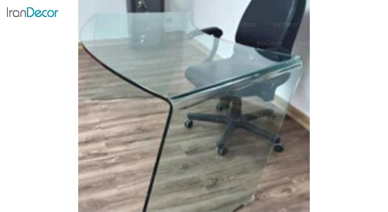 تصویر میز مدیریتی شیشه ای اطلس مدل T150