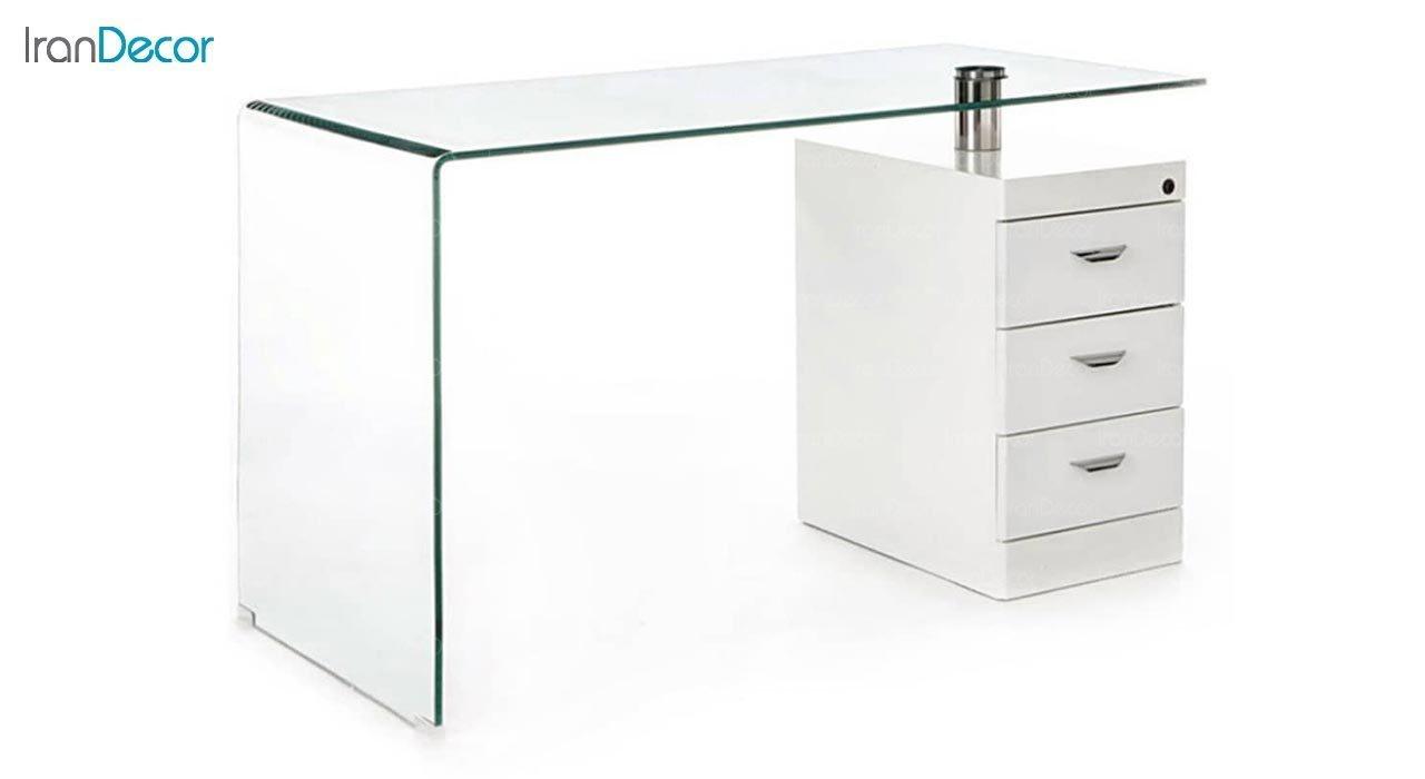 تصویر میز اداری شیشه ای مدل اطلس