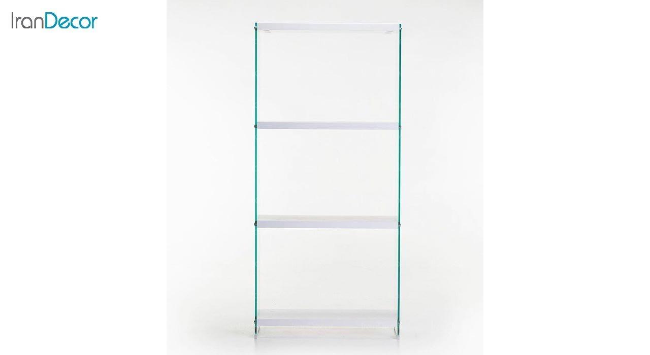 تصویر ویترین شیشه ای با طبقه ام دی اف اطلس مدل T80
