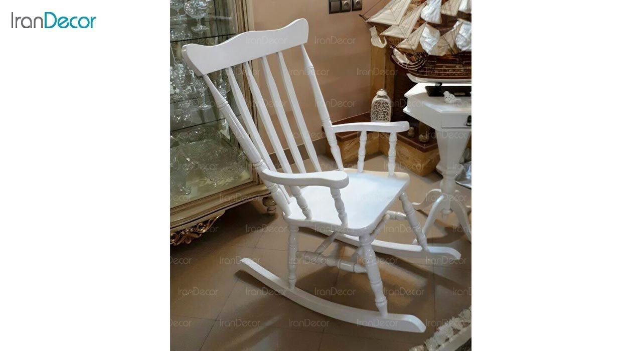 عکس صندلی راک آمازون چوب مدل تاج ساده
