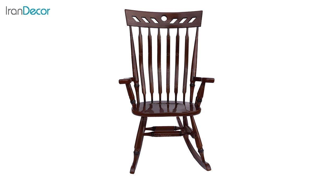عکس صندلی راک آمازون چوب مدل تاج لوزی
