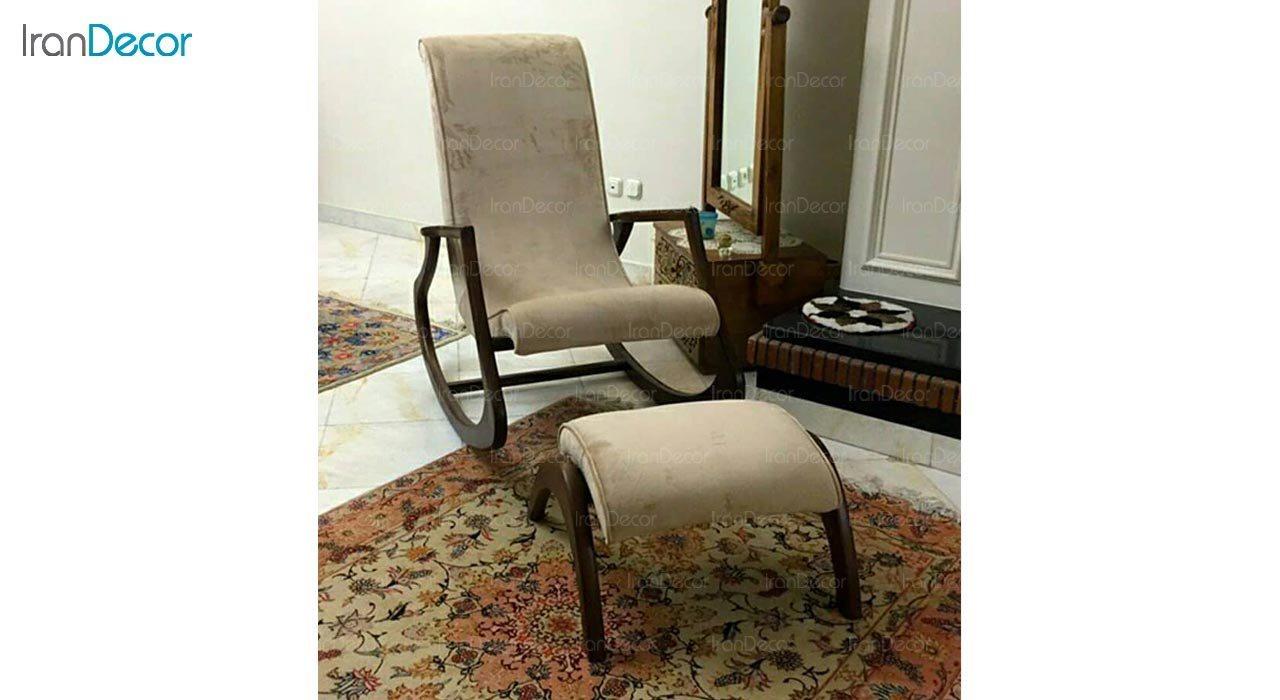 تصویر صندلی راک آمازون چوب مدل کاگان