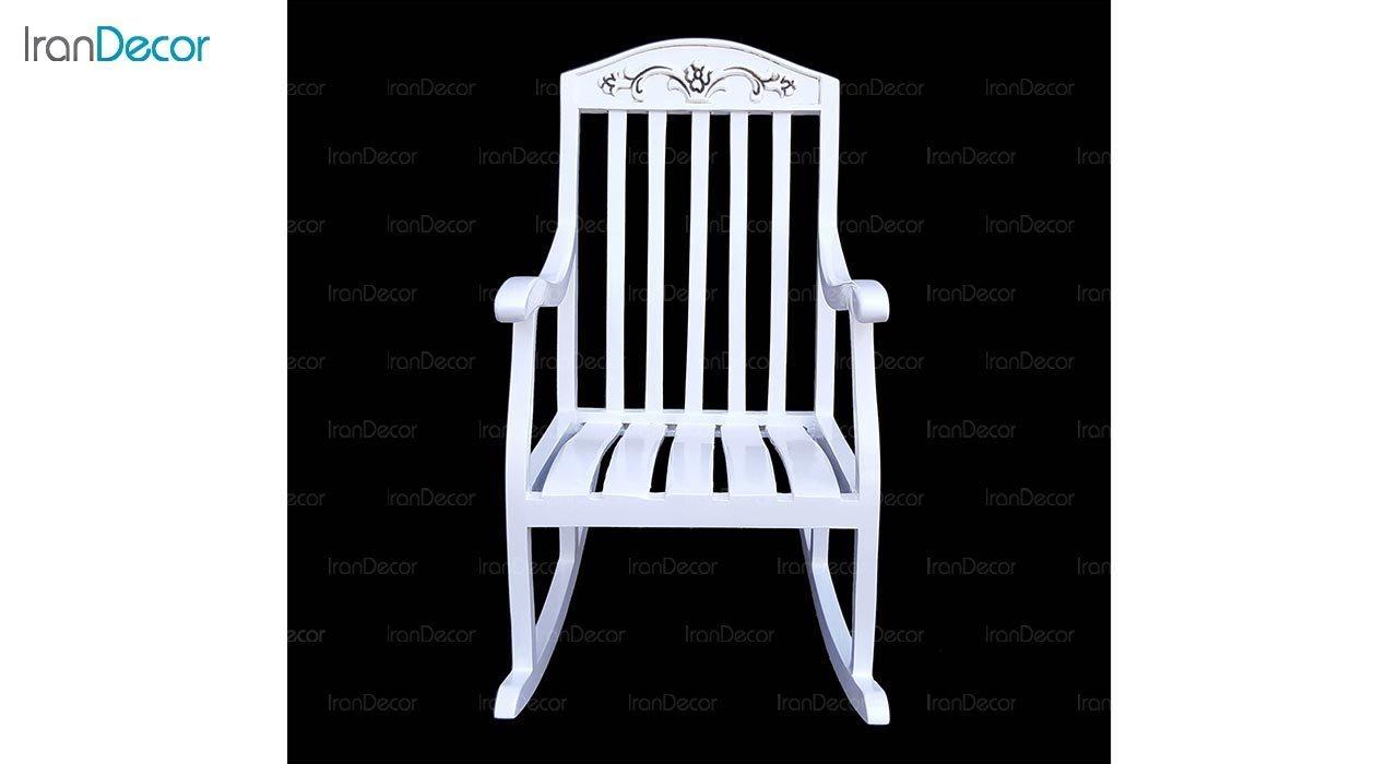 عکس صندلی راک کودک آمازون چوب مدل تاج گل