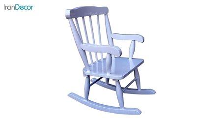 تصویر صندلی راک کودک آمازون چوب مدل تاج ساده