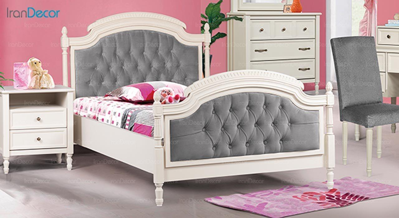 تصویر تخت خواب نوجوان ماد مدل رمانتیک