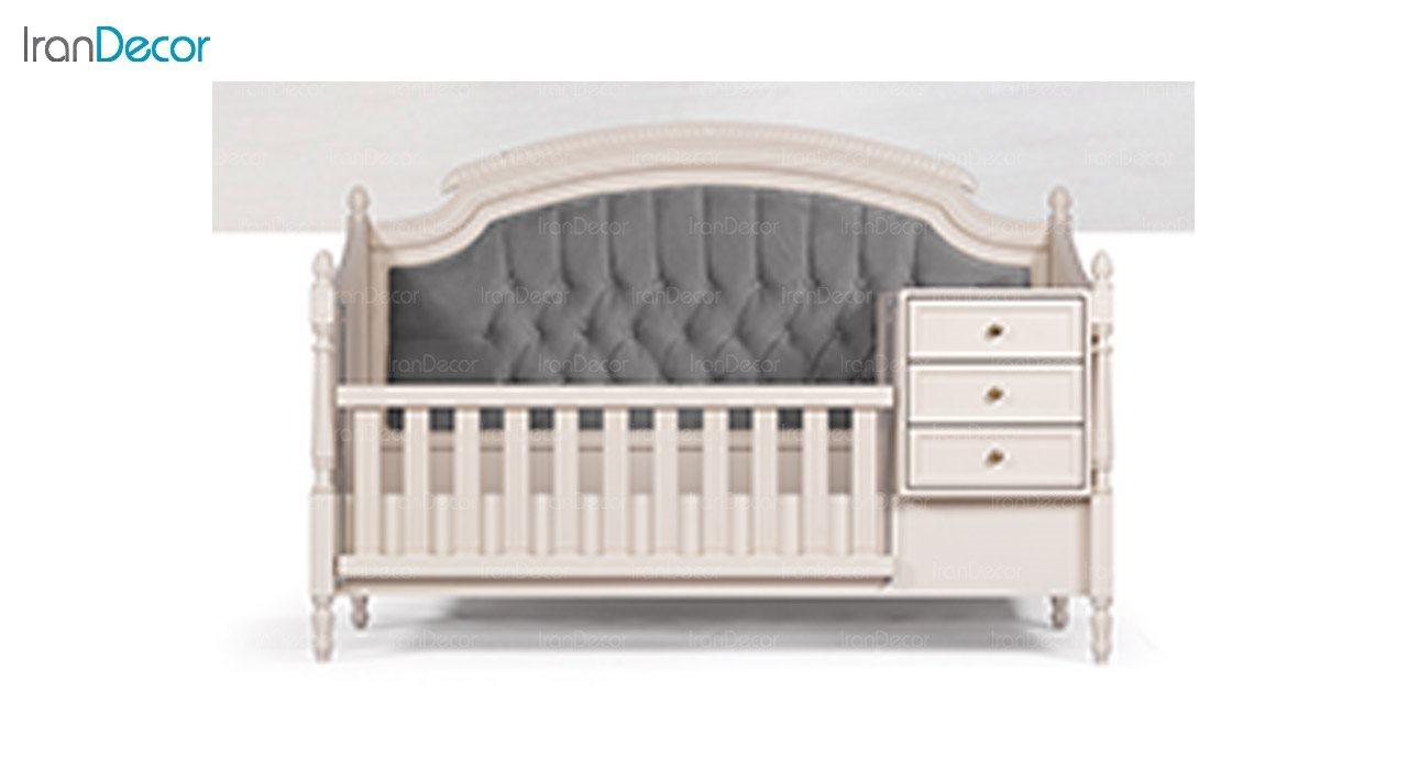 تصویر تخت خواب نوزاد دو منظوره ماد مدل رمانتیک