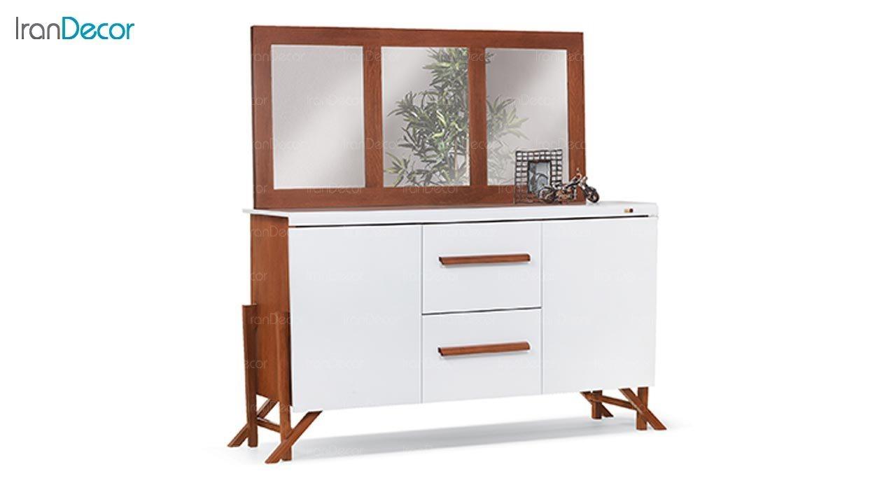 تصویر میز کنسول و آینه ماد مدل ماهور